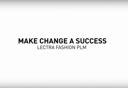 "The sentence ""Make change a success - Lectra Fashion PLM"" is written on a white background."