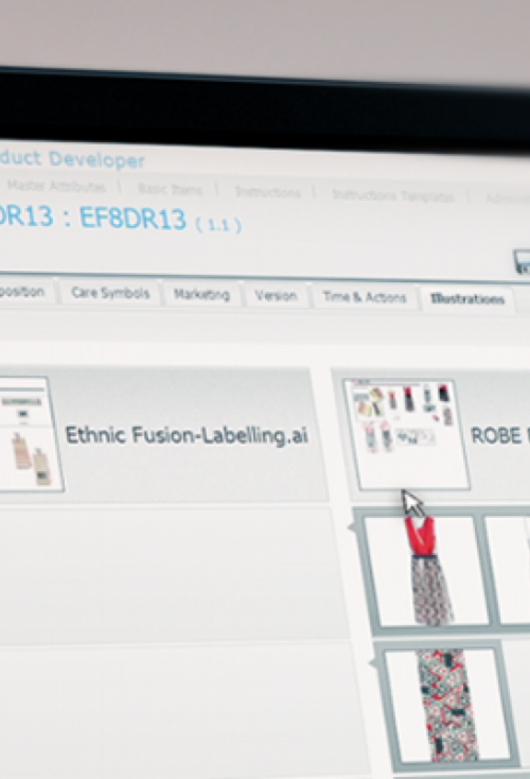 A screenshot of the Lectra Fashion PLM's interface.
